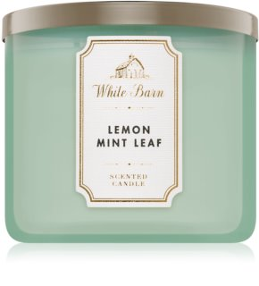 Bath & Body Works Lemon Mint Leaf vela perfumada