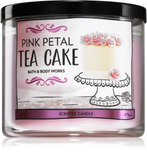 Bath & Body Works Pink Petal Tea Cake scented candle I.