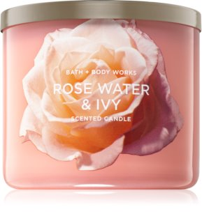 Bath & Body Works Rose Water & Ivy duftkerze  II.