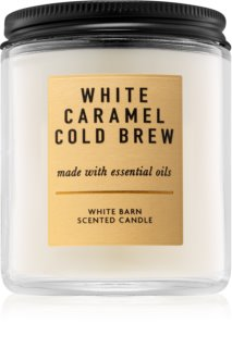 Bath & Body Works White Caramel Cold Brew αρωματικό κερί Ι.