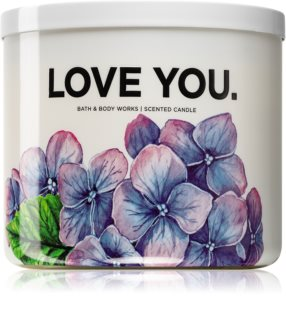 Bath & Body Works Fresh Cut Lilacs lumânare parfumată  (Love You)