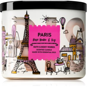 Bath & Body Works Rose Water & Ivy duftkerze  III. (Paris)