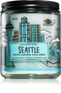 Bath & Body Works White Caramel Cold Brew ароматическая свеча