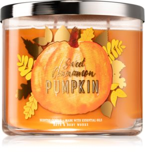 Bath & Body Works Sweet Cinnamon Pumpkin ароматическая свеча III.