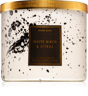 Bath & Body Works White Birch & Citrus scented candle