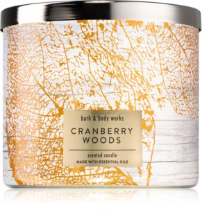 Bath & Body Works Cranberry Woods vela perfumada