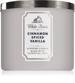 Bath & Body Works Cinnamon Spiced Vanilla αρωματικό κερί