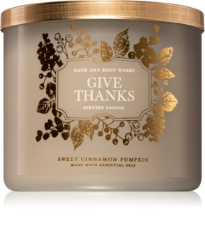 Bath & Body Works Sweet Cinnamon Pumpkin lumânare parfumată  I. (Give Thanks)