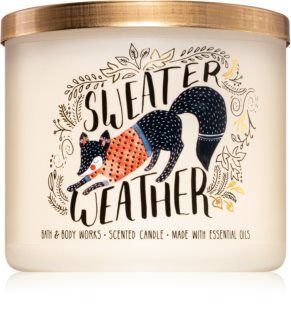 Bath & Body Works Sweater Weather vela perfumada  II.
