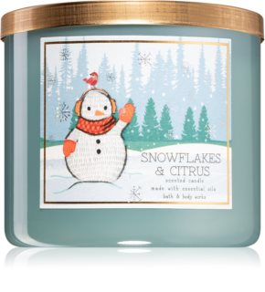 Bath & Body Works Snowflakes & Citrus αρωματικό κερί