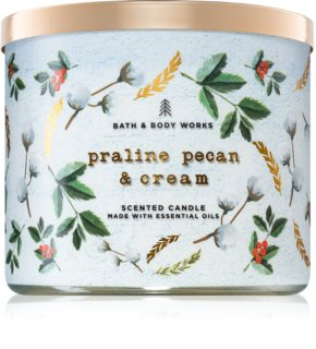 Bath & Body Works Praline Pecan & Cream vela perfumada
