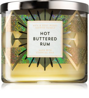 Bath & Body Works Hot Buttered Rum vela perfumada