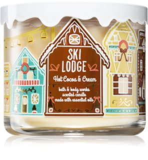 Bath & Body Works Hot Cocoa & Cream vela perfumada com óleos essenciais
