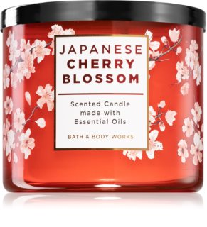 Bath & Body Works Japanese Cherry Blossom geurkaars met Essentiele Olieën