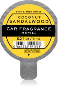 Bath & Body Works Coconut Sandalwood désodorisant voiture recharge