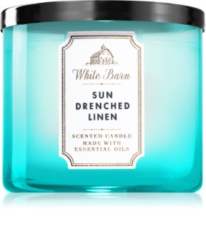 Bath & Body Works Sun-Drenched Linen αρωματικό κερί με αιθέρια έλαια