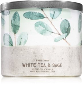 Bath & Body Works White Tea& Sage vela perfumada I.