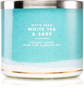Bath & Body Works White Tea & Sage ароматна свещ