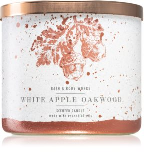 Bath & Body Works White Apple Oakwood vela perfumada I.