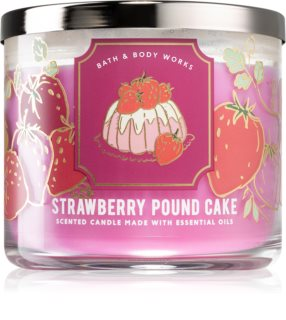 Bath & Body Works Strawberry Pound Cake vela perfumada I.