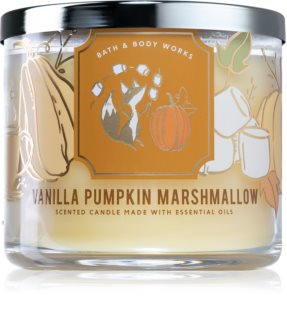 Bath & Body Works Vanilla Pumpkin Marshmallow αρωματικό κερί ΙΙ.