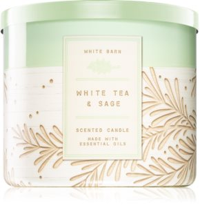 Bath & Body Works White Tea & Sage αρωματικό κερί