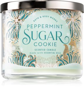 Bath & Body Works  Peppermint Sugar Cookie vonná sviečka
