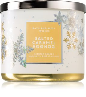 Bath & Body Works Salted Caramel Eggnog vela perfumada