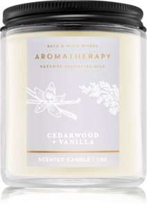 Bath & Body Works Aromatherapy Cedarwood Vanilla bougie parfumée