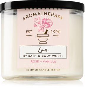 Bath & Body Works Aromatherapy Rose & Vanilla bougie parfumée I.