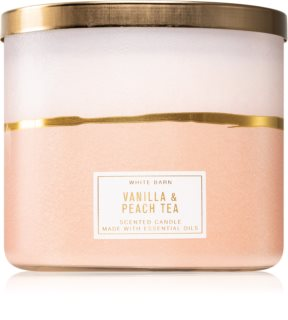 Bath & Body Works Vanilla & Peach Tea vonná sviečka