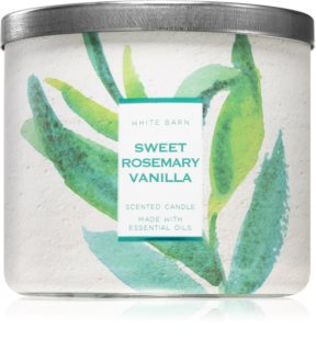 Bath & Body Works Sweet Rosemary Vanilla illatos gyertya