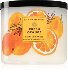 Bath & Body Works Fresh Orange illatos gyertya