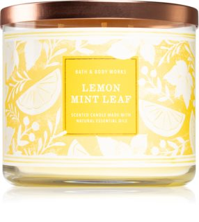 Bath & Body Works Lemon Mint Leaf vela perfumada