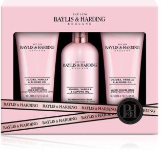 Baylis & Harding Jojoba, Vanilla & Almond Oil zestaw upominkowy (z olejkiem migdałowym)