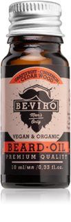 Beviro Men's Only Grapefruit, Cinnamon, Cedar Wood óleo para barba