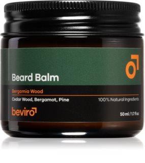 Beviro Beard Balm Bergamia Wood Bart-Balsam
