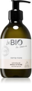 beBIO Flax Seed savon liquide naturel mains