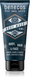 Benecos For Men Only 3 in1 Shampoo, Conditioner & Body Wash