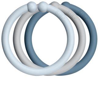 BIBS Loops závěsné kroužky Baby Blue / Cloud / Petrol