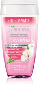 Bielenda Cotton 2-Phase Lash-Strengthening Eye Makeup Remover for Sensitive Eyes