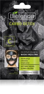 Bielenda Carbo Detox Active Carbon Cleansing Mask with Activated Charcoal for Oily and Combination Skin