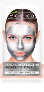 Bielenda Metallic Masks Silver Detox maska za čišćenje i detoksikaciju za mješovitu i masnu kožu