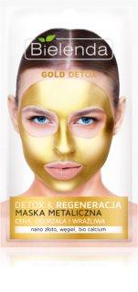 Bielenda Metallic Masks Gold Detox αναγεννητική και αποτοξινωτική μάσκα για ώριμη επιδερμίδα προσώπου