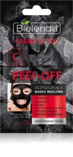 Bielenda Carbo Detox Active Carbon peel-Off maska za lice s aktivnim ugljenom za mješovitu i masnu kožu