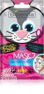 Bielenda Crazy Mask Kitty máscara de limpeza 3D