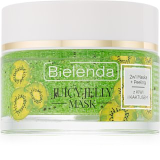 Bielenda Juicy Jelly Kiwi & Cactus masque et gommage purifiant 2 en 1
