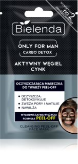 Bielenda Only for Men Carbo Detox máscara facial de limpeza esfoliante