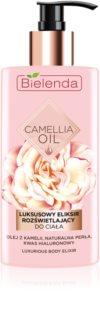 Bielenda Camellia Oil latte idratante nutriente corpo con glitter