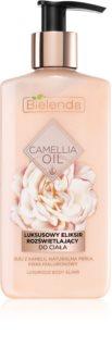Bielenda Camellia Oil odżywcze mleczko nawilżające do ciała z brokatem